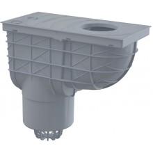 ALCAPLAST Univerzální lapač střešních splavenin 300 × 155/125 přímý šedý AGV2S