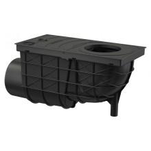 ALCAPLAST Univerzální lapač střešních splavenin 300 × 155/110 boční černý AGV3