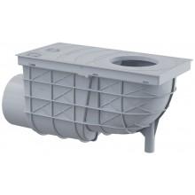 ALCAPLAST Univerzální lapač střešních splavenin 300 × 155/110 boční šedý AGV3S