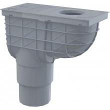 ALCAPLAST Univerzální lapač střešních splavenin 300 × 155/125/110 přímýšedý AGV4S