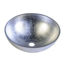SAPHO MURANO skleněné umyvadlo 40x13cm, stříbrné AL5318-52