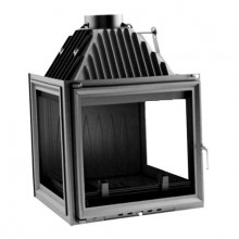 KRATKI AMELIA/LP 25 kW krbová vložka teplovzdušná, pravé a levé sklo