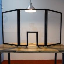 APG Ochranný panel trojdílný s oknem, 2000 x 930 mm HSW66915