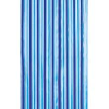 AQUALINE Sprchový závěs 180x180cm, modré pruhy, ZV011
