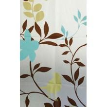 AQUALINE Sprchový závěs 180x180cm, květovaný, ZV012