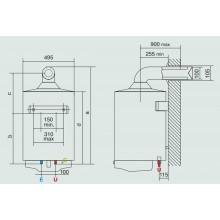 ARISTON S/SGA BF X 80 EE plynový závěsný bojler s vyrovnaným odtahem spalin 3211029