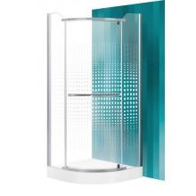 Roltechnik Sprchový kout AUSTIN / 900 - stříbro / transparent + potisk