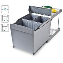 ALVEUS ALBIO 30 odpadkový koš 1 x 16l + 2 x 7,5l na třídění odpadu