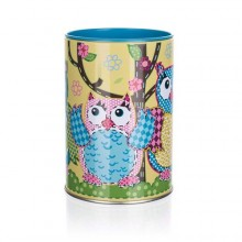 BANQUET OWLS ROUND SMALL Plechovka/kasička 7 x 11 cm 24OWLMB001