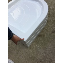 VÝPRODEJ RAVAK Kaskada RONDA 90 PU čtvrtkruhová sprchová vanička A207001120 POŠKOZENÁ
