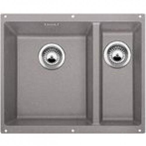 BLANCO Subline 340/160-U dřez Silgranit perlově aluminium, bez táhla, dřez vpravo 520413