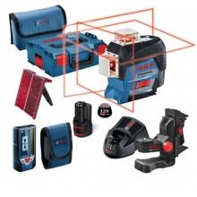 BOSCH GLL 3-80 C Liniový laser + LR 7 Přijímač laserového paprsku + BM 1 Univerzální držák 0601063R05