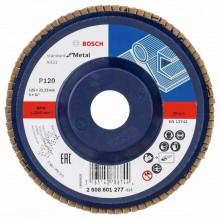 BOSCH Lamelový brusný kotouč X431, Standard for Metal, 125 mm, 22,23 mm, 120 2608601277