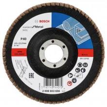 BOSCH Lamelový brusný kotouč X431, Standard for Metal, 125 mm, 22,23 mm, 40 2608603656