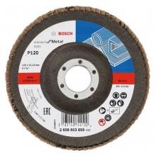 BOSCH Lamelový brusný kotouč X431, Standard for Metal, 125 mm, 22,23 mm, 120 2608603659