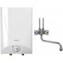 CLAGE Ohřívač vody se zásobníkem S5-O+SNO 2,0kW/230V montáž nad umyvadlo s s ventilovou armaturou 4100-41055