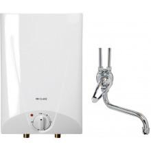 CLAGE Ohřívač vody se zásobníkem S5-O+SEO, 2,0kW/230V, montáž nad umyvadlo s pákovou armarurou 4100-41056