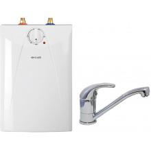 CLAGE Ohřívač vody se zásobníkem S5-U+BUP pod umyvadlo 2,0kW/230V, s ventilovou armaturou 4100-42056
