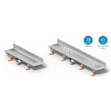 CHUDĚJ Lineární plastový žlab KLASIK 650 mm ke stěně s roštem Klasik, mat, shodný s modelem FLOOR CH-650K3
