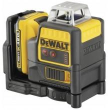 DeWALT Aku červený čárový laser 2 x 360° XR Li-Ion 10,8V 2,0 Ah DCE0811D1R