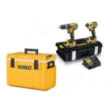 DeWALT Kombo sada Příklepová vrtačka + Rázový utahovák + 2 x 5,0 Ah, nabíječka + Chladící box DCK266P2C
