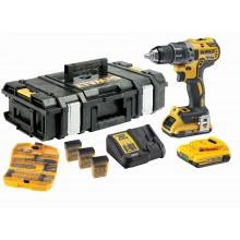 DeWALT Sada vrtačka 18 V/2x 2,0 Ah baterie + nabíječka včetně příslušenství DCK791D2KX-QW