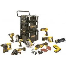 DeWALT Kombinovaná sada nářadí 18V 4x 5,0Ah Li-Ion XR, s vozíkem a kufry Tough DCK853P4
