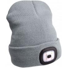 EXTOL LIGHT čepice s čelovkou 45lm, nabíjecí, USB, šedá 43195