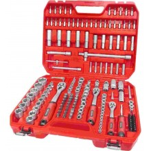 """EXTOL PREMIUM Klíče nástrčné a zástrčné 1/4""""+3/8""""+1/2"""" 172ks 8818346"""