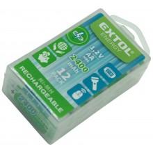 EXTOL ENERGY baterie nabíjecí, 12ks, AA (HR6), 1,2V, 2400mAh, NiMh 42063