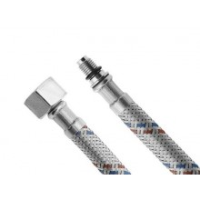 AQUALINE Flexibilní nerezová hadice FxMBK M10x1/2', 40cm, 44440