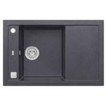 ALVEUS FORMIC 30 kuchyňský dřez granitový, 760 x 500 mm, černá 4403091