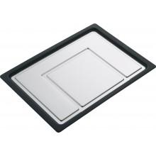 Franke CEX posuvný odkapávací tác, nerez/černý plast 112.0173.587
