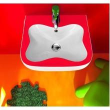 LAUFEN FLORAKIDS Umývátko pro děti 45x41 cm, s otvorem pro baterie, červené
