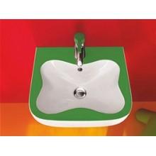 LAUFEN FLORAKIDS Umývátko pro děti 45x41 cm, s otvorem pro baterie, zelené