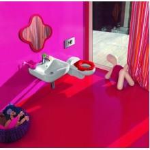 LAUFEN FLORAKIDS Zrcadlo koupelnové pro děti - ve tvaru květiny