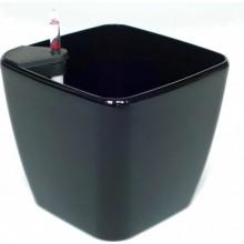 Samozavlažovací květináč G21 Cube černý 22cm 639241