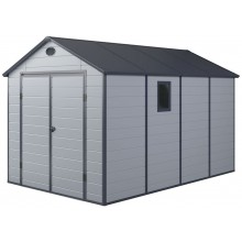 G21 Zahradní domek PAH 882 - 241 x 366 cm, plastový, světle šedý 6390032