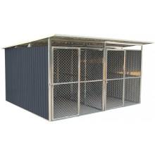 G21 Kotec pro psa KEN 886 - 322 x 275 cm, dvoumístný, šedý 63900594