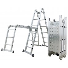 Hliníkové štafle G21 GA-SZ-4x4-4,6m, multifunkční + podlážka 6390463