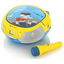 GoGEN Radiopřijímač s CD/ MP3/ USB, modrá/ žlutá GOGMAXIPREHRAVACB
