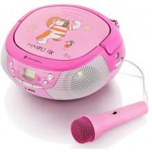 GoGEN Radiopřijímač s CD/ MP3/ USB, růžová/purpurová GOGMAXIPREHRAVACP