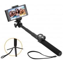 GoGEN Selfie tyč 5 teleskopická, bluetooth, černá GOGBTSELFIE5B