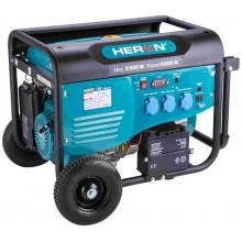 HERON elektrocentrála benzínová 5,5kW/13HP, pro svařování, elektrický start, podvozek 8896415