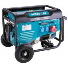 HERON elektrocentrála benzínová 15HP/6,8kW (400V), 5,5kW (230V), podvozek 8896418