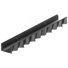 ACO HexaSelf 1m černý žlab, černý bez roštu 319200