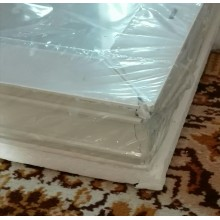 VÝPRODEJ ACO sklepní celoplastové okno s IZO sklem 90 x 40 cm bílá PRASKLÝ RÁM