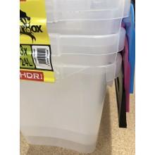 VÝPRODEJ HEIDRUN set 3ks úložný box s integrovaným víkem, 30 x 39,5 x 29,5 cm, 24 l, 31649 POŠKOZENO