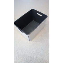 VÝPRODEJ,CURVER box úložný Classico, 39,5 x 29,5 x 25 cm, 25 l, šedá/bílá, POŠKOZENÉ VÍKO