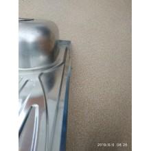 VÝPRODEJ NOVASERVIS kuchyňský dřez 50 x 80 x 15 cm nerez, pravý DR50/80AP PROMÁČKLÝ